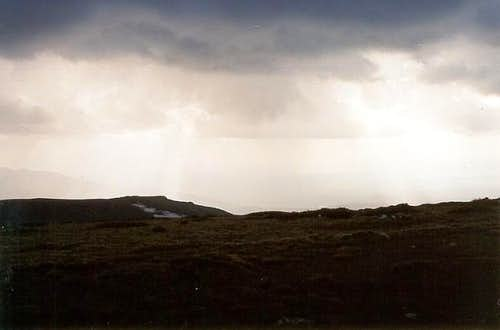 The hail storm abates...