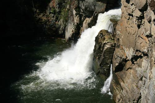 Linville Falls from Plunge Basin Overlook