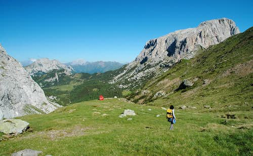 Coming down from Sella di Aip
