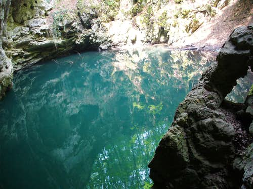 "THE CAVE "" THE DEVIL\'S LAKE"""