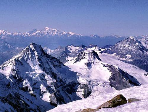 View west from the summit of Jungfrau