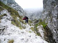 Scrambling to Poiana Închisă (Enclosed Glade)