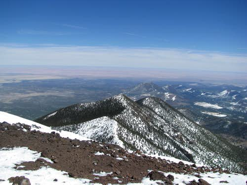 NE ish from summit