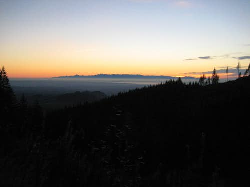 Stimson Hill sunset