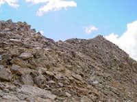 The SW Ridge between the...