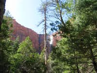 Kolob Arch and spring waterfall