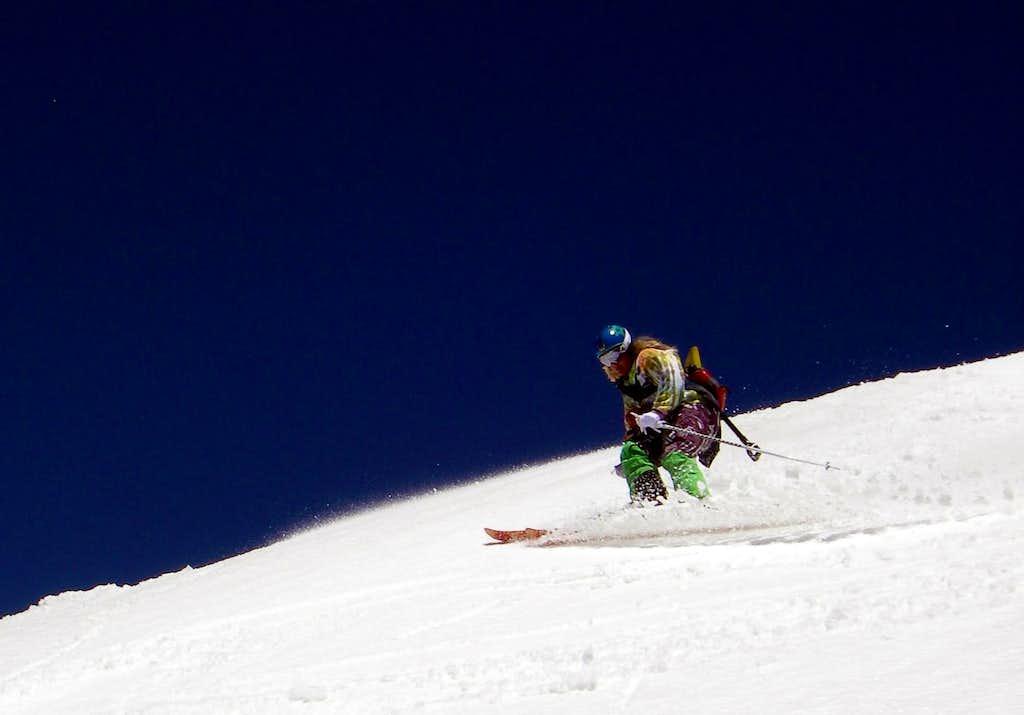 Skiing Lake Peak
