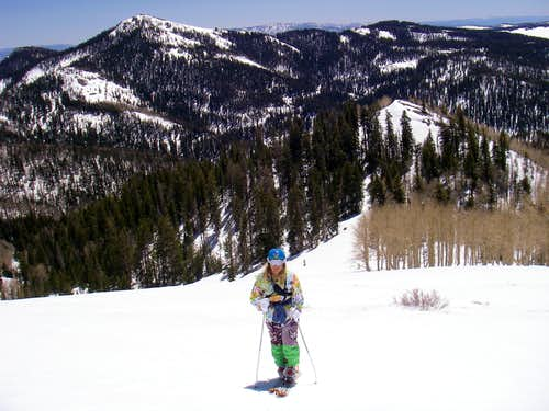 Troy skinning up Lake Peak