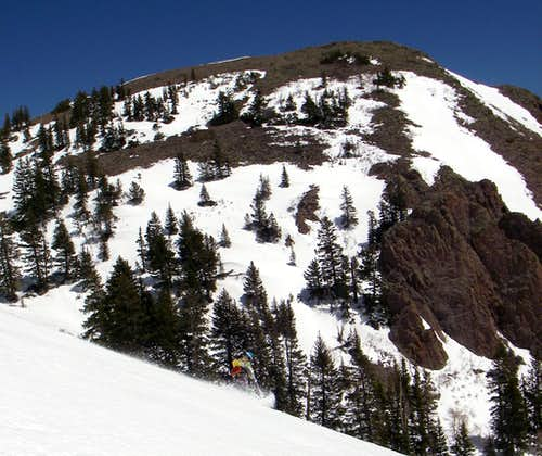 Skiing Lake Peak
