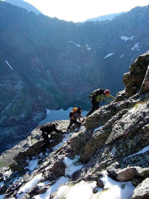 Climbing Kit Carson's north...