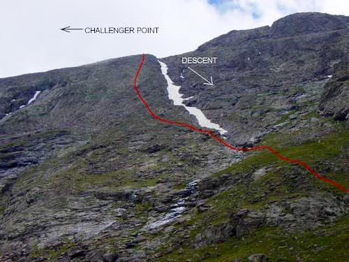 Red is the north face route....