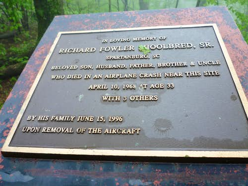 Memorial in Nimblewill Gap