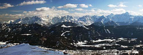 Eastern Julian Alps from Dobrac