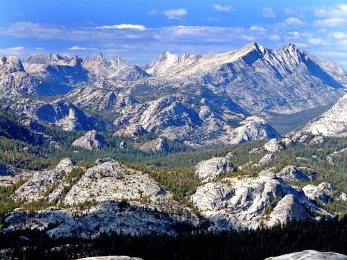 Sierra Crest from Fairview Dome