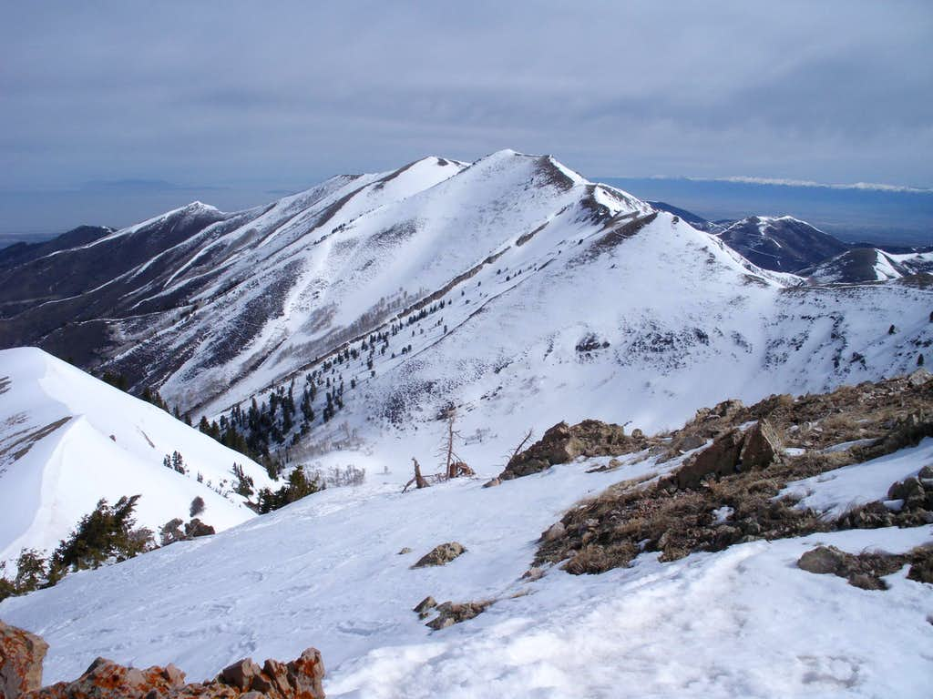View north to Kelsey Peak