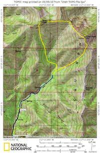 Map of Rocky Peak