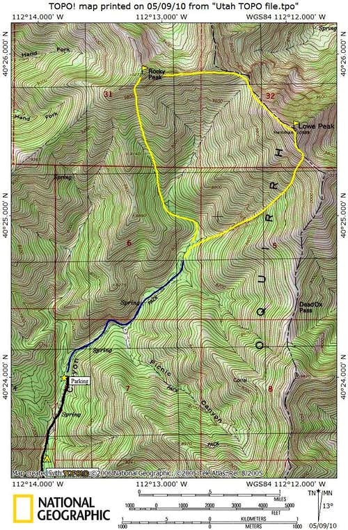 Map of Rocky Peak