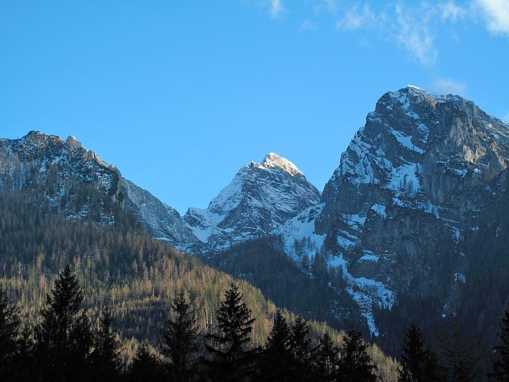 The Blaueisspitze (2481m) in the Hochkalter group