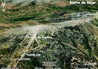 Sierra de Béjar Map