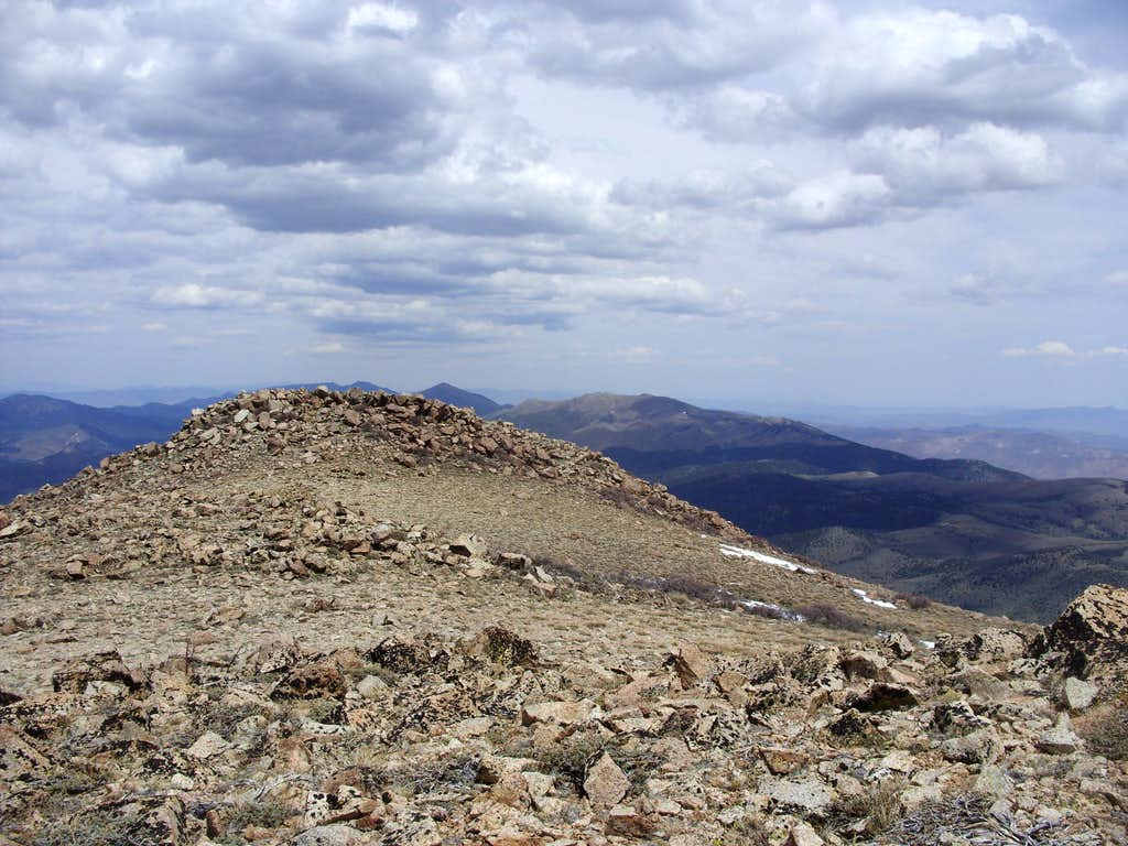 View north from the summit of Mount Siegel