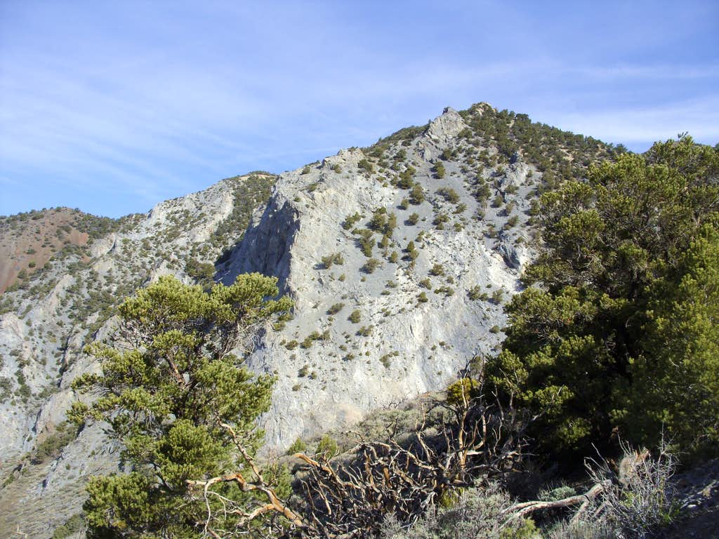 View of the granite wall