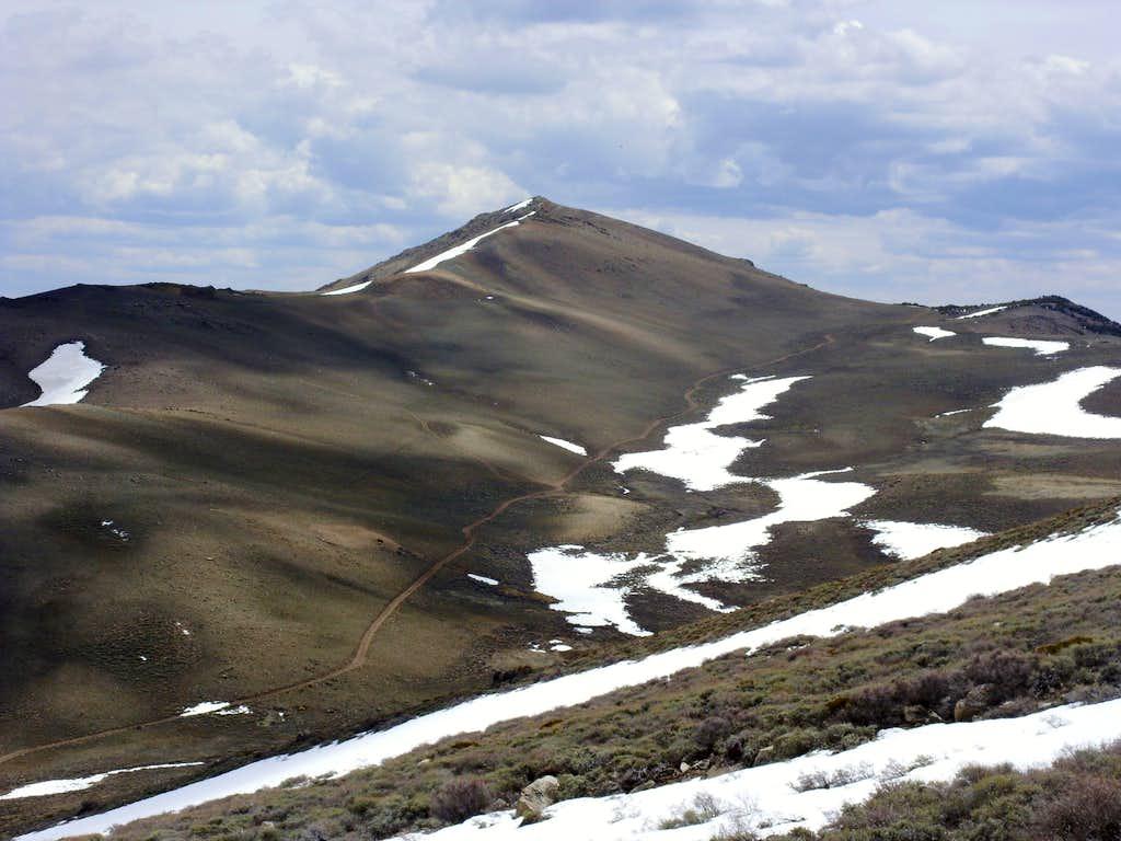 Oreana Peak from the ridge up Galena and Mount Siegel