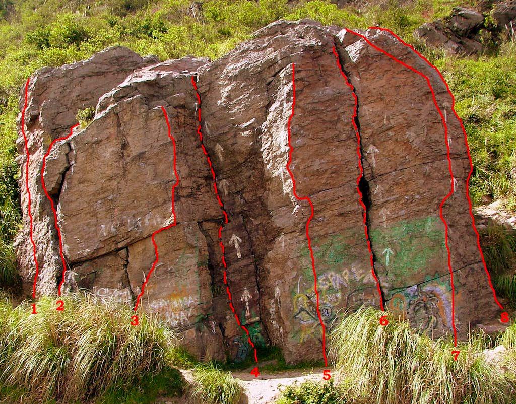 Lower slab. Crag 1.