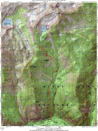 Route Map for Goat Mountain