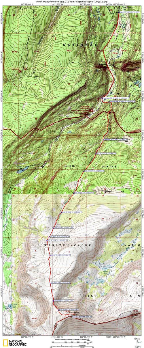 Joulious Creek Topo Map