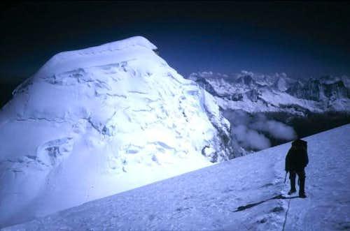 At 6500m on Huascaran, just...