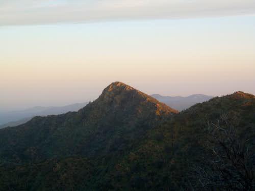 First light on Samon Peak