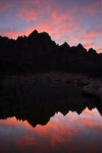 First Light on Sky Blue Lake
