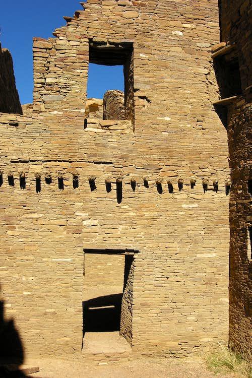 door and windows at Pueblo Bonito