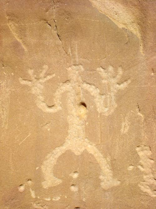 Petroglyph of a scary man