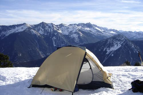 Camping near the summit