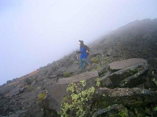 descending Humphrey's Peak.