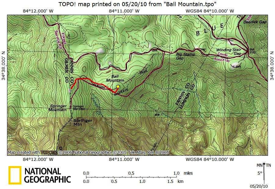 Ball Mountain Route Map