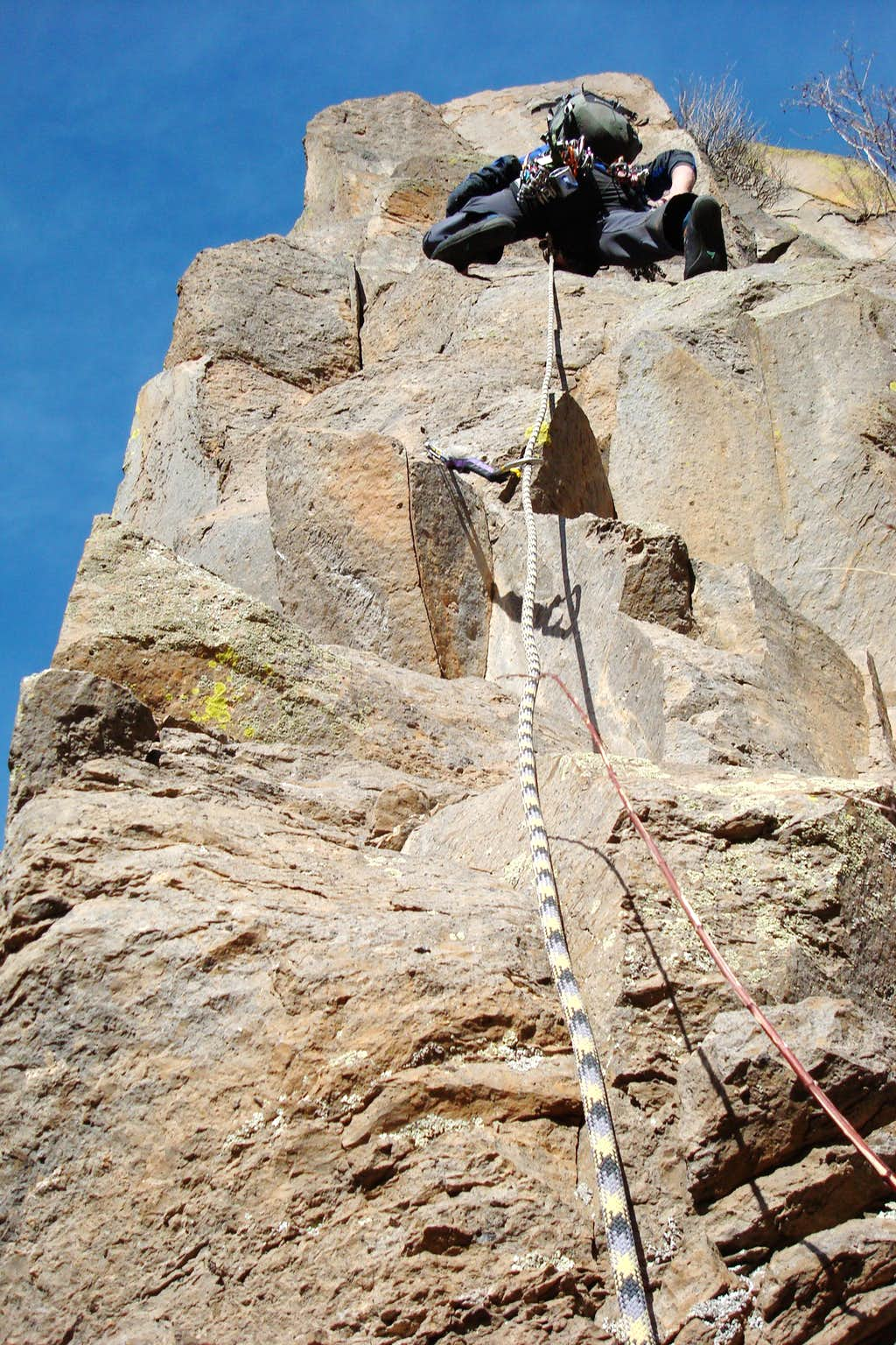 Climbing BattleShip Rock
