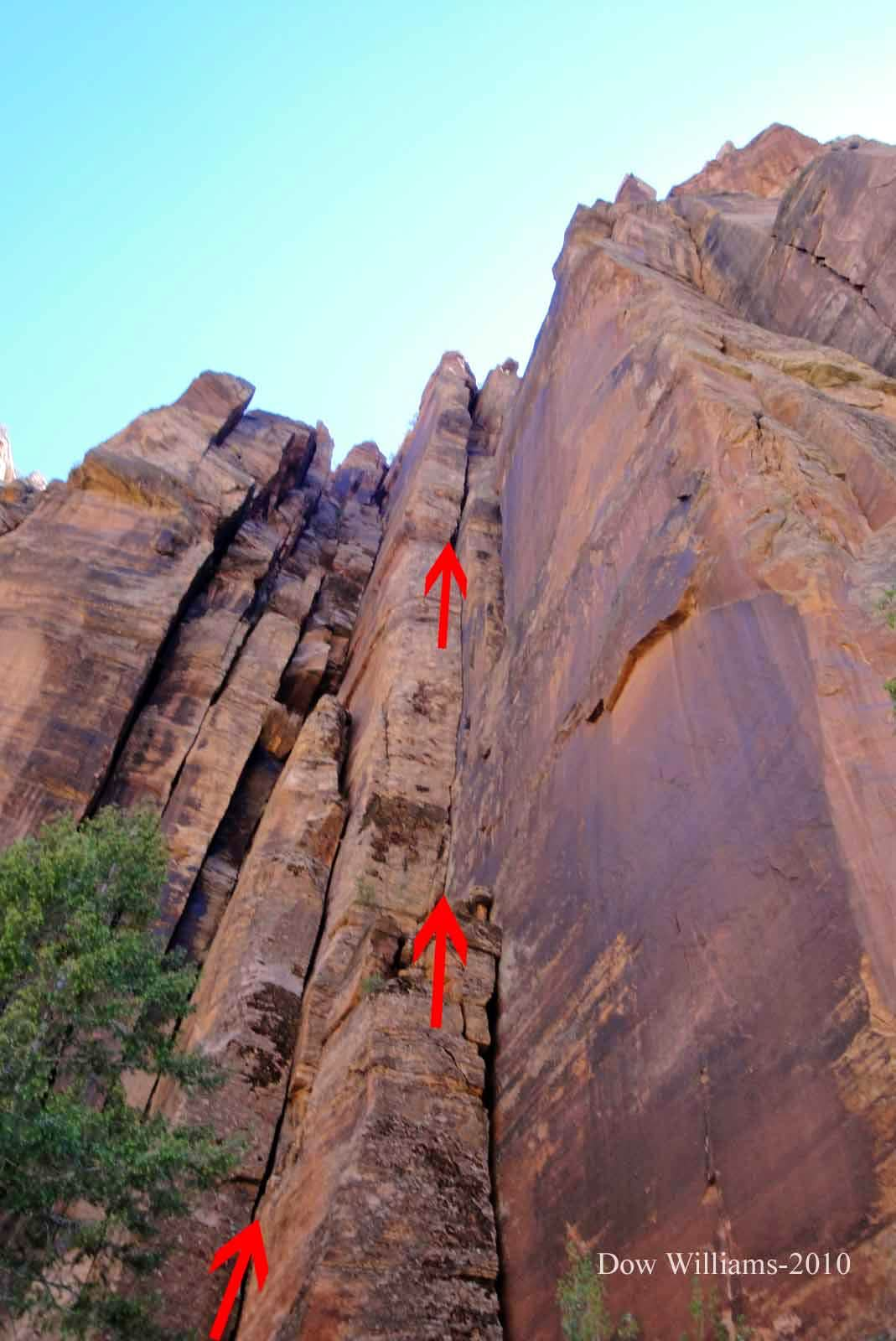 Gypsy's Curse, 5.10+, 4 Pitches