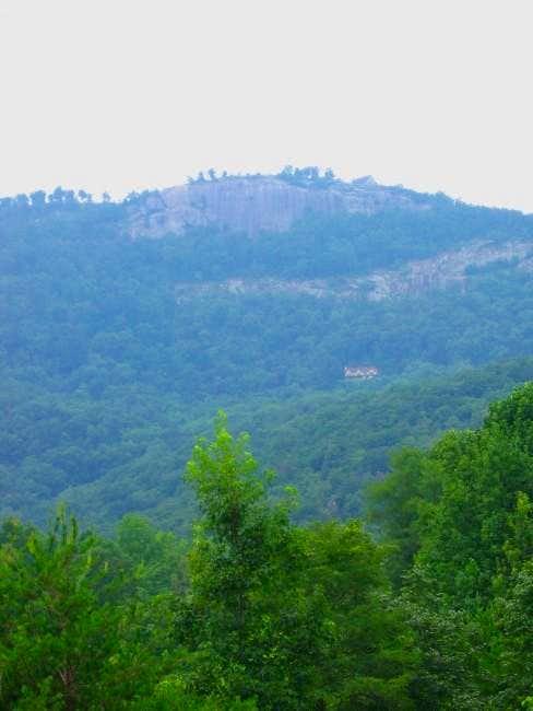 The nearby peak, Glassy...