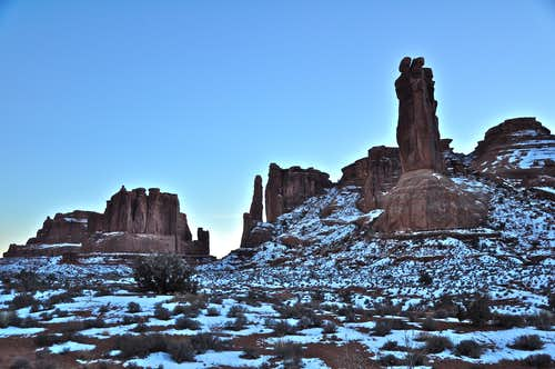 Late afternoon in Arches NP