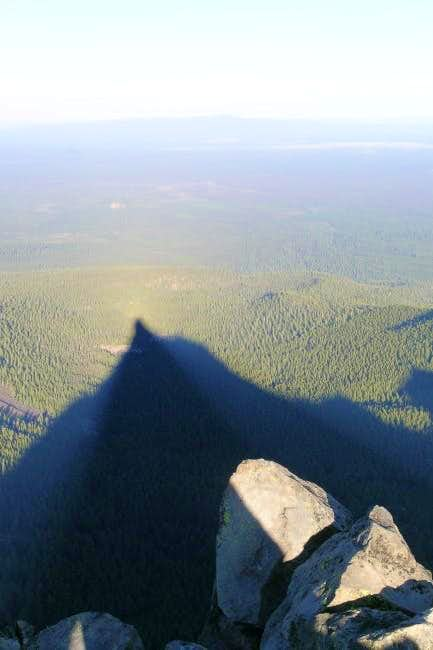 Mt. Thielsen's shadow from...