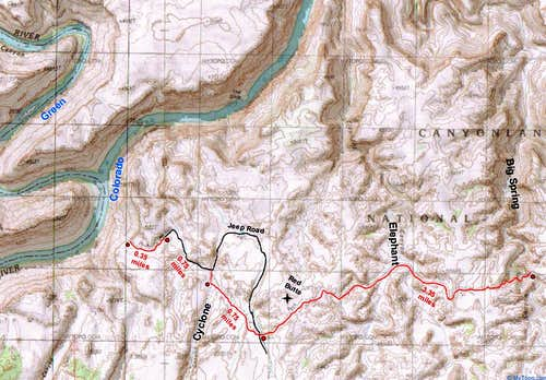 Map Of The Confluence Overlook Trail