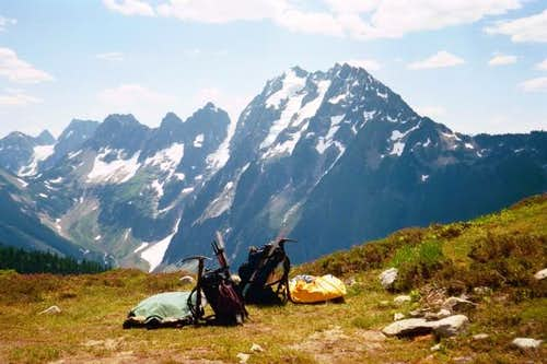 This was our bivy site at...