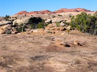 Trail Over Slick Rock Area