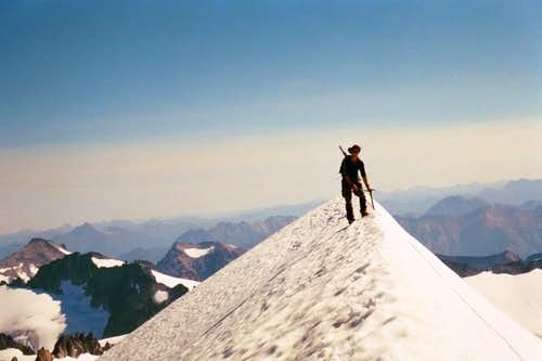 Summit ridge looking from...