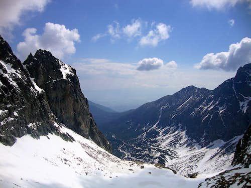 Jastrabia veža seen from Jastrabia valley
