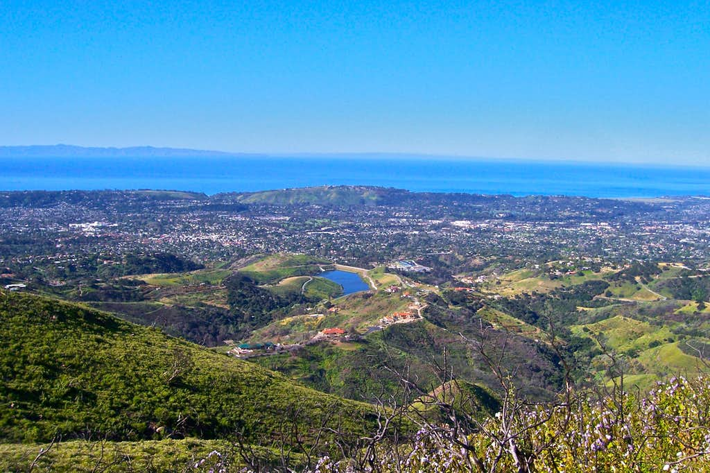 Views of Pacific Ocean and Channel Islands...