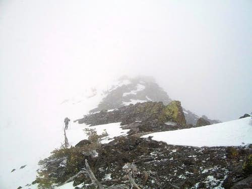 Getting near the summit