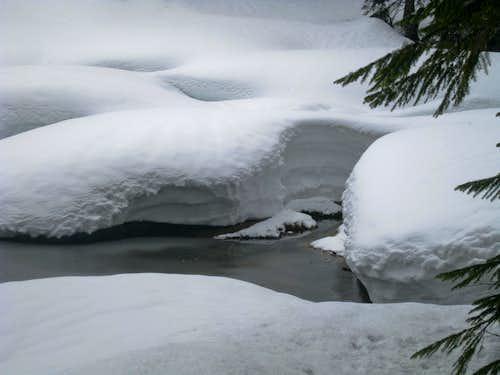 Cleveland Lake Snowed Over